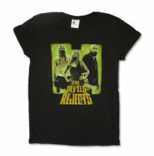 The Devils Rejects Hell Doesn't Want Them Juniors Black T Shirt Horror Large L
