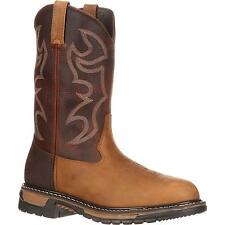 Rocky Men's Rocky Original Ride Branson Roper Western Boots Tan/Brown FQ0002732