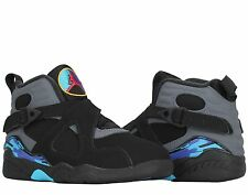 "Nike Air Jordan 8 Retro (PS) PreSchool ""Chrome"" Boys Basketball Shoes 305369-003"
