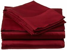 AU Bedding Collection  - 1000 TC 100% Egyptian Cotton Burgundy Solid
