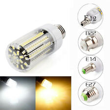 New E14 E27 B22 E12 136LED 5733SMD Corn Bulb Light Cover Lamp Black PCB 220-240V