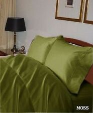 AU Bedding Collection  - 1000 TC 100% Egyptian Cotton Moss  Solid