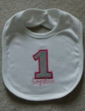 Personalised Baby Gifts - Baby Bibs- Princess/Prince 1st Birthday Any name
