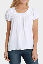NEW Regatta Solid Grace Short Sleeve Top White