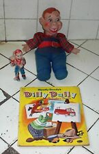 """HOWDY DOODY'S DILLY DALLY Coloring Book (1955), Howdy Doody Plastic Figure,Doll"
