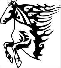 Tattoo Tribal Car Van Colt Pony Running Horse Flame Sticker Decal Vinyl Wall Art