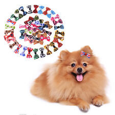 Cute Wholesale Pet Dog Hair Bows Clips Rubber Bands Pet Grooming Accessories