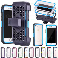 Full Body Rugged Belt Clip Holster Case Cover + Screen Films For iPhone 7/ 7Plus