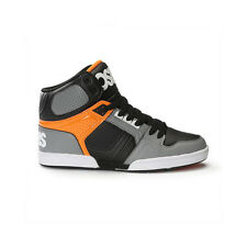 Osiris NYC 83 Hi Top Skate Shoe - Grey / Orange