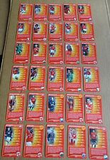 MULTI-LIST SELECTION OF TOP TRUMPS MANCHESTER UNITED 2008  SINGLE CARDS