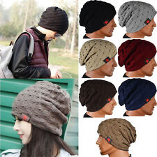 Women Winter Warm Hat Knit Men Beanie Baggy Wool Unisex Cap