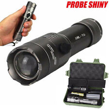 CREE XM-L T6 LED 18650 Tactical Flashlight ZOOM Torch Lamp Battery Charger Case