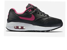 NIKE AIR MAX 1 BLACK/VIVID PINK SIZE 3 4 5 WOMENS GIRLS TRAINERS 90 95 97 ALL