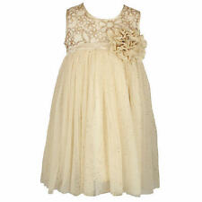 Popatu Girls' Special Occasion Dress - GOLD (Select Size) * FAST SHIPPING *
