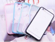 Hard Matte Clear Back Case Soft Silicone TPU Bumper Cover for iPhone 5 6 7 plus