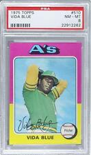 1975 Topps #510 Vida Blue PSA 8 Oakland Athletics Baseball Card
