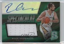 2013-14 Panini Spectra Spectacular Swatch Signatures #65 Ryan Anderson Auto Card