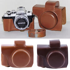 PU Leather Camera case bag for Olympus OM-D E-M10 Mark II w/ 14-42mm EZ lens