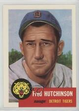 1991 Topps Archives The Ultimate 1953 Set 72 Fred Hutchinson Detroit Tigers Card