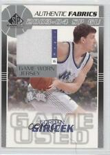 2003-04 SP Game Used Authentic Fabrics #GG-J Gordan Giricek Orlando Magic Card