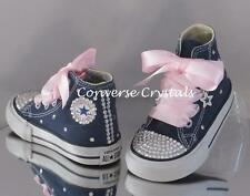 Girls Custom Crystal *Bling* Converse Infant  Size 2-10. Other Colours Available