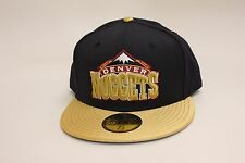 Denver Nuggets Navy Blue / Gold Lid New Era 59Fifty NBA Fitted Hat Cap EB