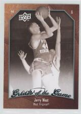 2009-10 Upper Deck Greats of the Game #20 Jerry West Virginia Mountaineers Card
