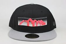 Denver Nuggets Black / Gray Lid / Infrared NBA New Era 59Fifty Fitted Hat Cap EB