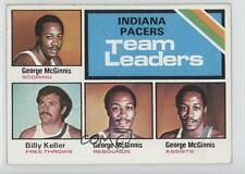 1975-76 Topps #279 George McGinnis Bill Keller Indiana Pacers Basketball Card