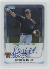 2011 Bowman Chrome Prospects Autograph BCP212 Brock Holt Pittsburgh Pirates Auto