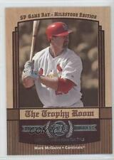 2001 SP Game Bat Edition Milestone The Trophy Room #TR-5 Mark McGwire Card