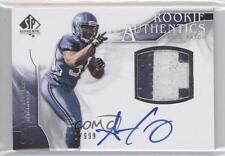 2009 SP Authentic #372 Rookie Authentics Patch Aaron Curry Seattle Seahawks Auto