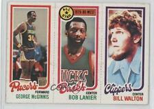 1980-81 Topps GMBLBW Bill Walton George McGinnis Bob Lanier Milwaukee Bucks Card