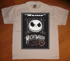Jack Skellington Nightmare Before Christmas Personalized T-Shirt - NEW