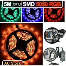 5M SMD 5050 RGB 300LEDs LED Light Strip (24/44 Key Remote) (5A/6A Power Supply)
