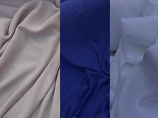 Plain Polyester Crepe Fabric Dressmaking/Bridal Wear Dress Fabrics Per Metre