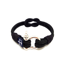 Yellow and Blue Handmade Nautical Anchor Bracelet by Bran Marion