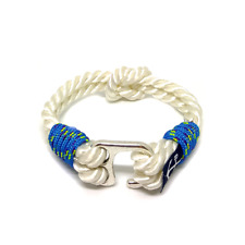 Blue and White Nautical Rope Bracelet by Bran Marion