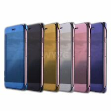 Luxury Electroplating Flip Cover Folio Protective Mirror Case for iPhone