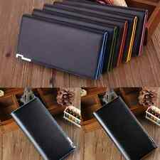 Men Business Long Leather Wallet Bifold Clutch Purse Credit Card Holder Coin Bag