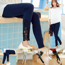2016 NEW Women Sexy Lace Stretchy Skinny Cotton High Waist Leggings Pants Hose