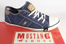 Mustang Canvas Lace up Sneakers Low Shoes Sports shoes blue fabric new