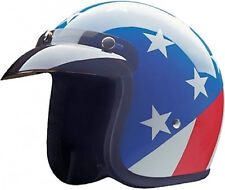 Captain America Open Face DOT Motorcycle Helmet with storage bag 5 sizes fnt
