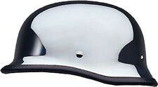 Chrome German DOT Motorcycle Half Helmet with storage bag size Small fnt