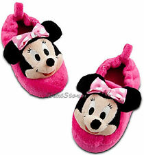 CUTE NEW Disney Store Minnie Mouse Girls SLIPPERS House Shoes Pink 9/10 & 11/12