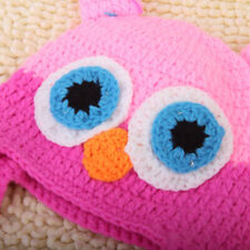Toddler Infant Baby Handmade Owl Ear Flap Hat Crochet Knit Cap Beanie Photo Prop