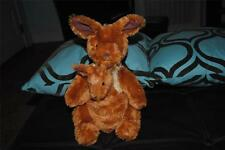 "Mommy Kangaroo Plush Stuffed Animal w Baby Joey Large 12"" Kohl's Cares Kids HTF"