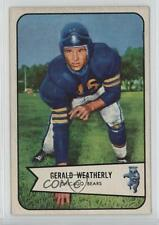 1954 Bowman #47 Gerald Weatherly Chicago Bears Football Card