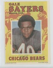 1971 Topps Football Pin-Ups #12 Gale Sayers Chicago Bears Card