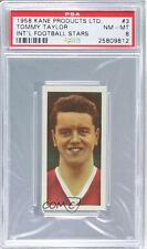 1958 Kane International Football Stars #3 Tommy Taylor PSA 8 Manchester United